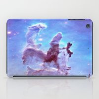 thanos iPad Cases featuring nEBulA Pastel Blue & Lavender by 2sweet4words Designs