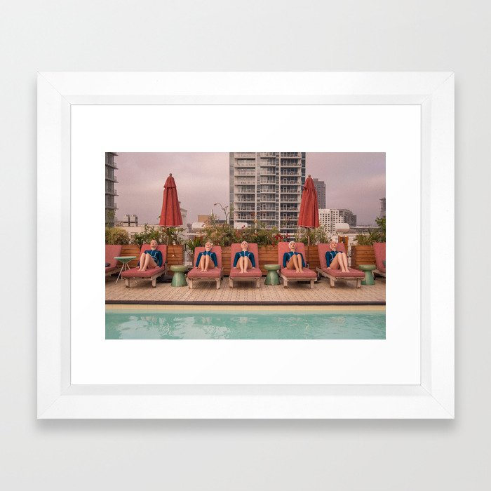 Water Study- Repetition Framed Art Print