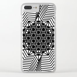 star tetrahedron Clear iPhone Case