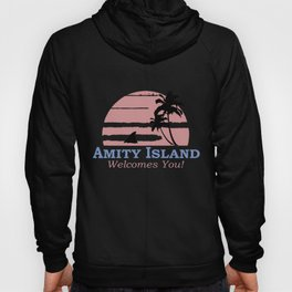 Amity Island Welcomes You Jaws Retro Movie 70s 80s Men Women Unisex 70s Hoody