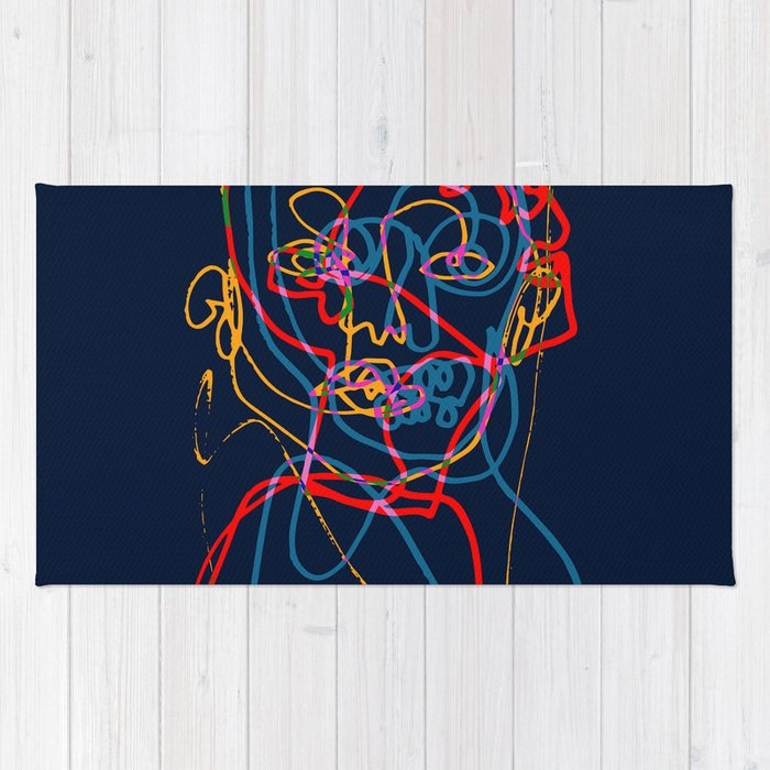Split Portrait Rug