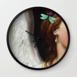 Angel With A Pearl Earring Wall Clock