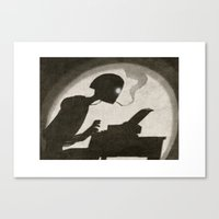 writer Canvas Prints featuring Robot Writer by Oliver Raw