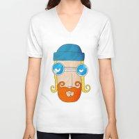 jack daniels V-neck T-shirts featuring Jack by marcusmelton