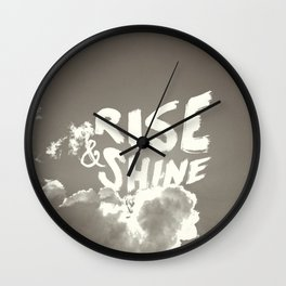 Rise & Shine Wall Clock