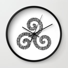 Flower Triskell Wall Clock