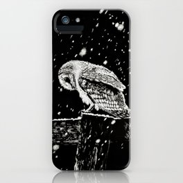 Snowfall at Night (Owl) iPhone Case