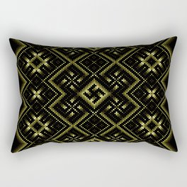 Solar signs. Ancient ornament. Sacred geometry Rectangular Pillow