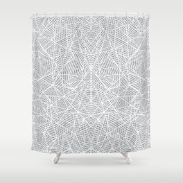 Abstract Lace on Grey Shower Curtain