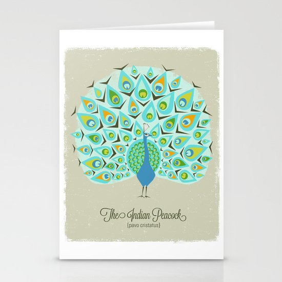 The Indian Peacock Stationery Cards