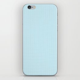 ice blue linen iPhone Skin