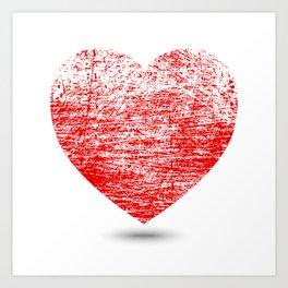 Grunge Heart Art Print