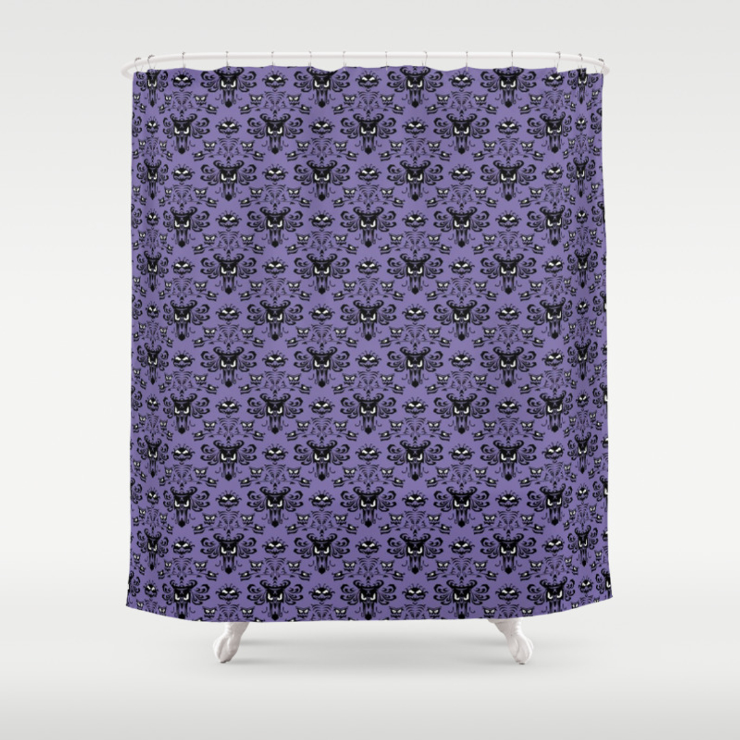horror shower curtains society6. Black Bedroom Furniture Sets. Home Design Ideas