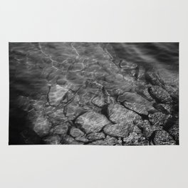 Under Water (Black and White) Rug