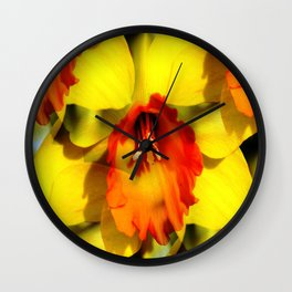 Daffodil - Orange Trumpet Wall Clock