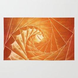 The Burning Eye Sees Spiral Rug