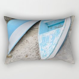 Two boats on the shore Rectangular Pillow