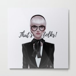 That's__folks! Metal Print