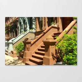 New York Manhattan Upper West Side Townhomes Canvas Print