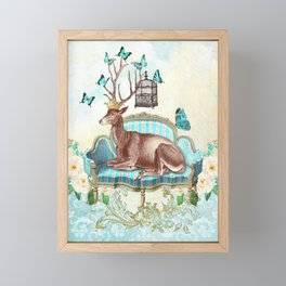 Deer me Framed Mini Art Print