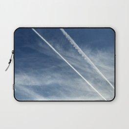 Exquisite Sky-Piercing Jet Trails Laptop Sleeve