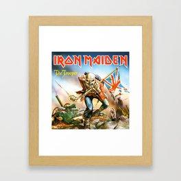 iron maiden the trooper tour 2019 2020 mawar Framed Art Print