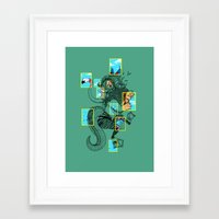 the national Framed Art Prints featuring National Animalgraphics by Anwar Rafiee