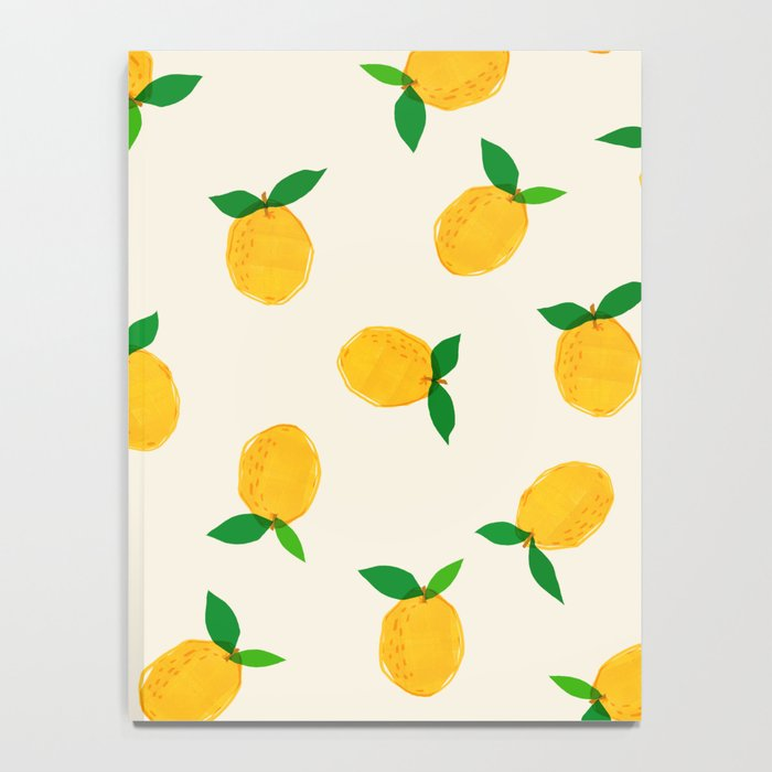 Lemon_Yellow_Pattern_01 Notebook