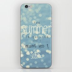 SUMMER IS CALLING iPhone & iPod Skin