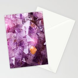 Violet Purple Amethyst Crystal Stationery Cards