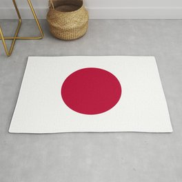 Classic Civil and state flag and ensign of Japan Rug