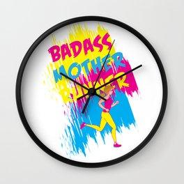 Badass Mother Runner Wall Clock