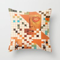 poem Throw Pillows featuring Orange poem by Mariano Peccinetti