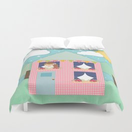 Doll House Duvet Cover