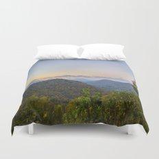Sleepy valley town Duvet Cover