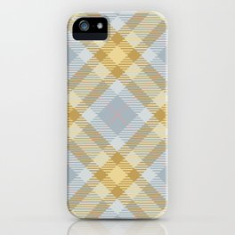 Yellow Gray Plaid Rug iPhone Case
