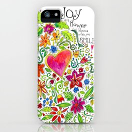 Joy in Your Smile iPhone Case