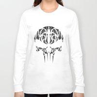 punisher Long Sleeve T-shirts featuring Tribal Punisher by Kush Wright