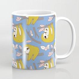 Sloth pattern in blue Coffee Mug