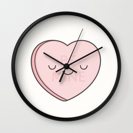 Pink Sweet Candy Heart Wall Clock