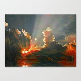 Sunset on islands Canvas Print
