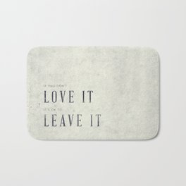 If you don't love it… A PSA for stressed creatives. Bath Mat