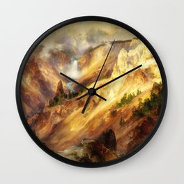 Thomas Moran - The Grand Canyon Of The Yellowstone - Digital Remastered Edition Wall Clock