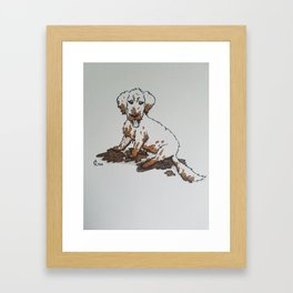 Muddy Puppy, Ruiner of Furniture Framed Art Print