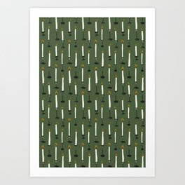Candles pattern Art Print