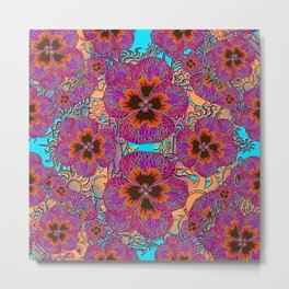The Lost Pansy Flower Forest Metal Print