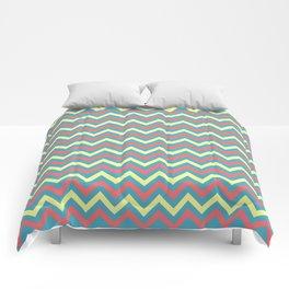 Chevron - coastal 2 Comforters