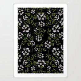 Hemlock Flower Pattern Art Print