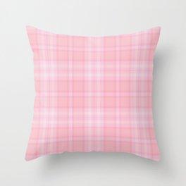 Pink Blush Plaid Pattern Throw Pillow