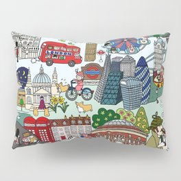 The Queen's London Day Out Pillow Sham